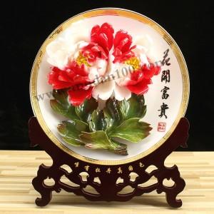 家庭装饰品-二乔牡丹瓷