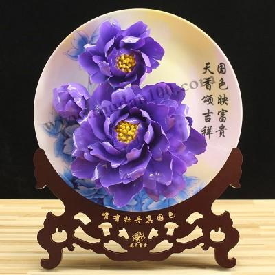 洛阳旅游纪念品-魏紫牡丹瓷