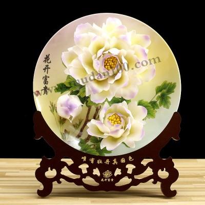 景区纪念品-金星雪浪牡丹瓷