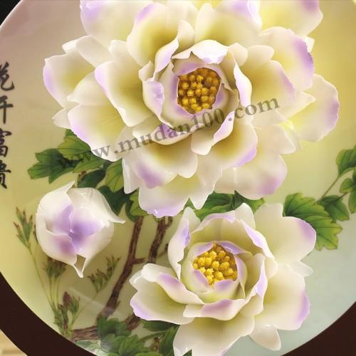 金星雪浪牡丹瓷细节