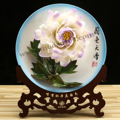 紫蝶白牡丹正面