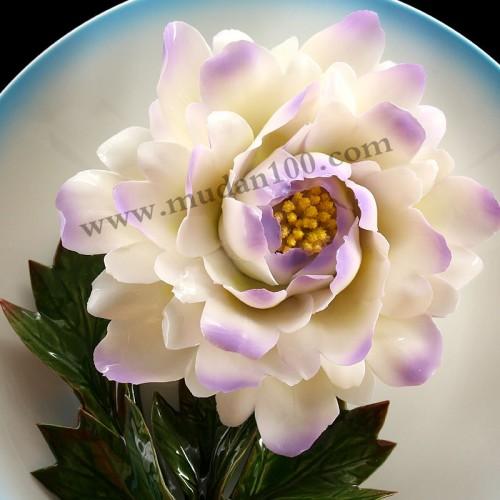 紫蝶白牡丹细节