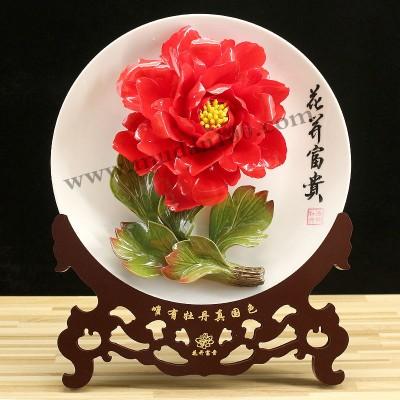 新年礼品送点啥?娇红牡丹瓷