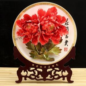 家庭装饰品-火炼金丹牡丹瓷
