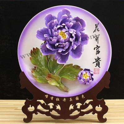 周年庆纪念礼品的首选-魏紫牡丹瓷