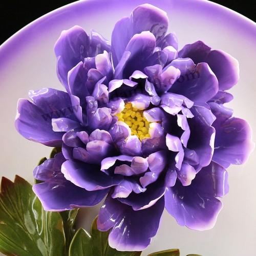 魏紫牡丹瓷正面细节
