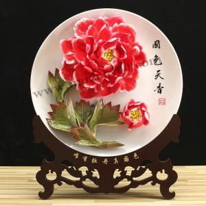 周年庆纪念礼品-丛中笑牡丹瓷