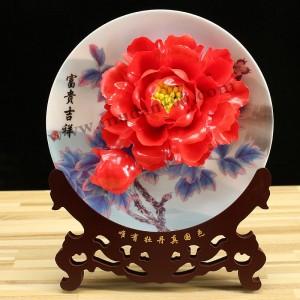 开业年会选礼物就选脂红牡丹瓷