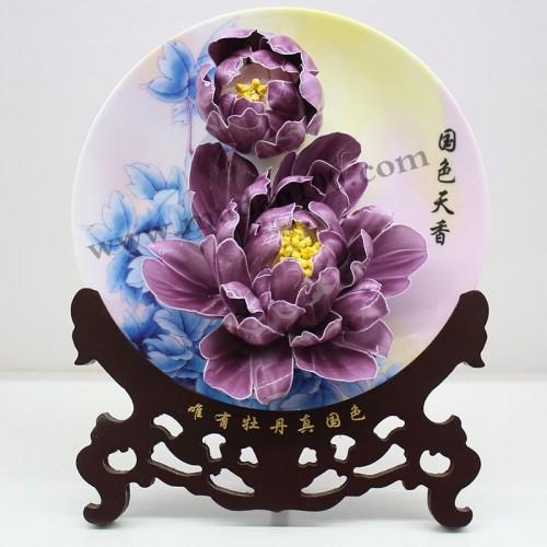 魏紫牡丹瓷正面