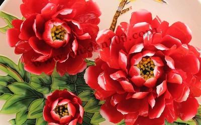 什么是牡丹瓷的釉上彩?