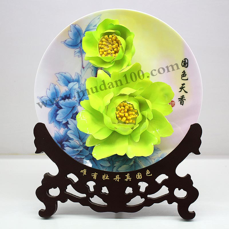 豆绿牡丹瓷-牡丹花名贵品种之一!