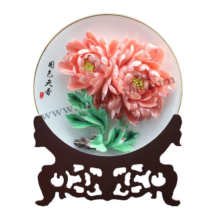 赵粉牡丹瓷-牡丹花名贵品种!