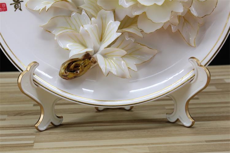 描金牡丹瓷的这两款底座堪称完美!
